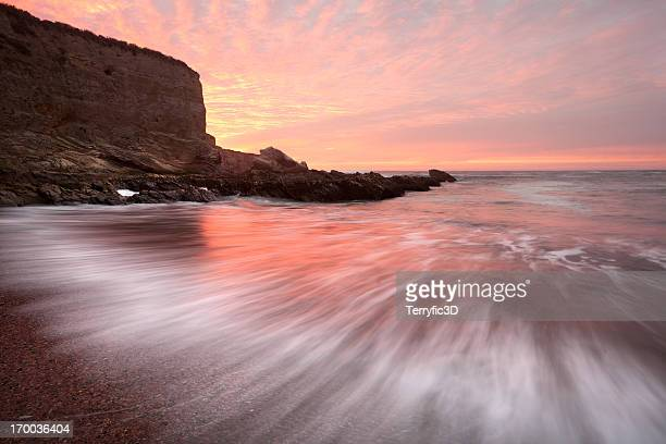 montana de oro state park beach sunset - receding hairline stock pictures, royalty-free photos & images