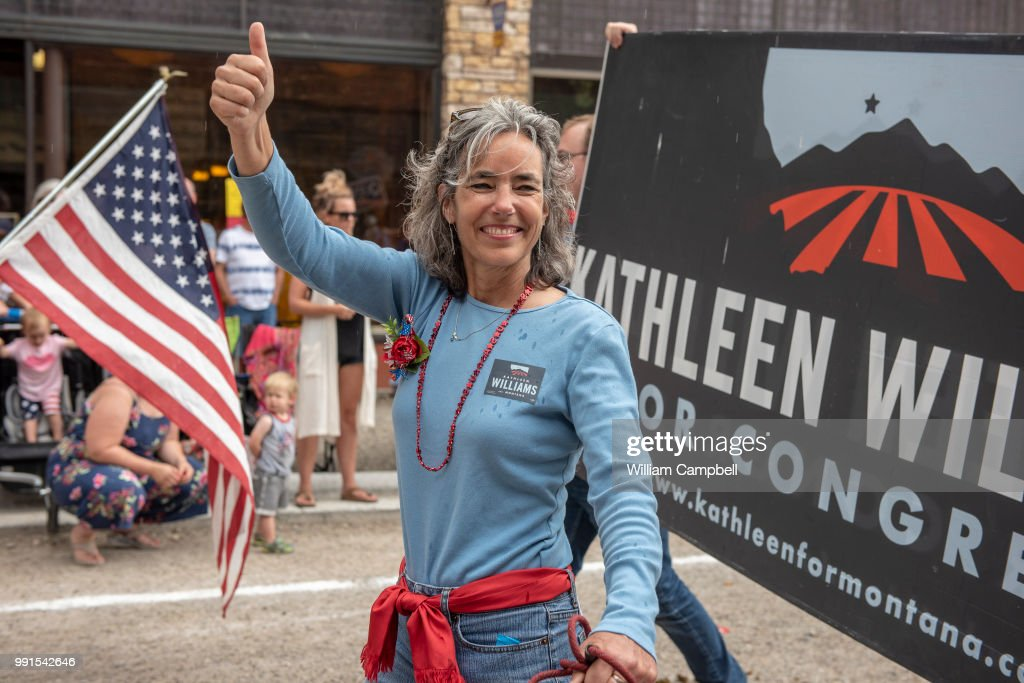 Kathleen Williams-Campaigning-Montana : News Photo