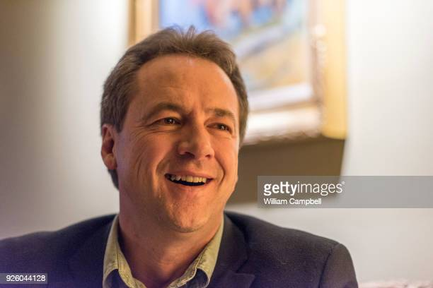 Montana Governor Steve Bullock takes a break while campaigning for democrat Dan Vermillion who is running for the Montana Legislature District 30...