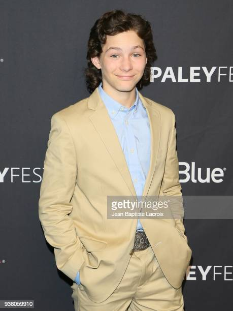 Montana Jordan attends the 2018 PaleyFest Los Angeles CBS's 'The Big Bang Theory' And 'Young Sheldon' on March 21 2018 in Hollywood California