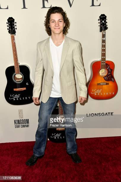 Montana Jordan attends the premiere of Lionsgate's I Still Believe at ArcLight Hollywood on March 07 2020 in Hollywood California