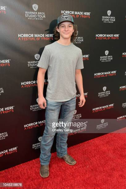 Montana Jordan attends the Warner Bros Studio Tour Hollywood Horror Made Here A Festival Of Frights on October 3 2018 in Burbank California