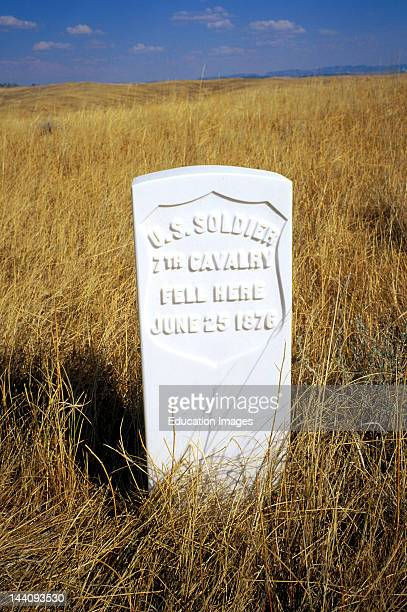 Montana Little Big Horn National Monument Marker For Fallen US Soldier 7Th Cavalry June 25 1876