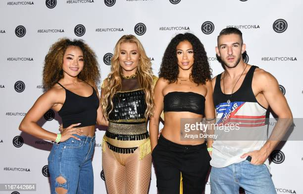 Montana Tucker and dancers attend Beautycon Festival Los Angeles 2019 at Los Angeles Convention Center on August 11 2019 in Los Angeles California