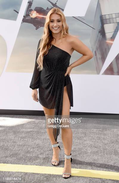 Montana Tucker arrives at the Premiere Of Universal Pictures' Fast Furious Presents Hobbs Shaw at Dolby Theatre on July 13 2019 in Hollywood...