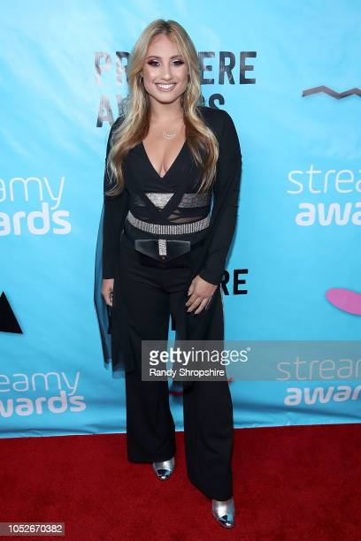 Montana Tucker attends the 2018 Streamys Premiere Awards at The Broad Stage on October 20 2018 in Santa Monica California