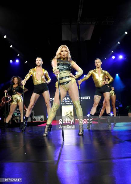 Montana Tucker performs on stage during Beautycon Festival Los Angeles 2019 at Los Angeles Convention Center on August 11 2019 in Los Angeles...