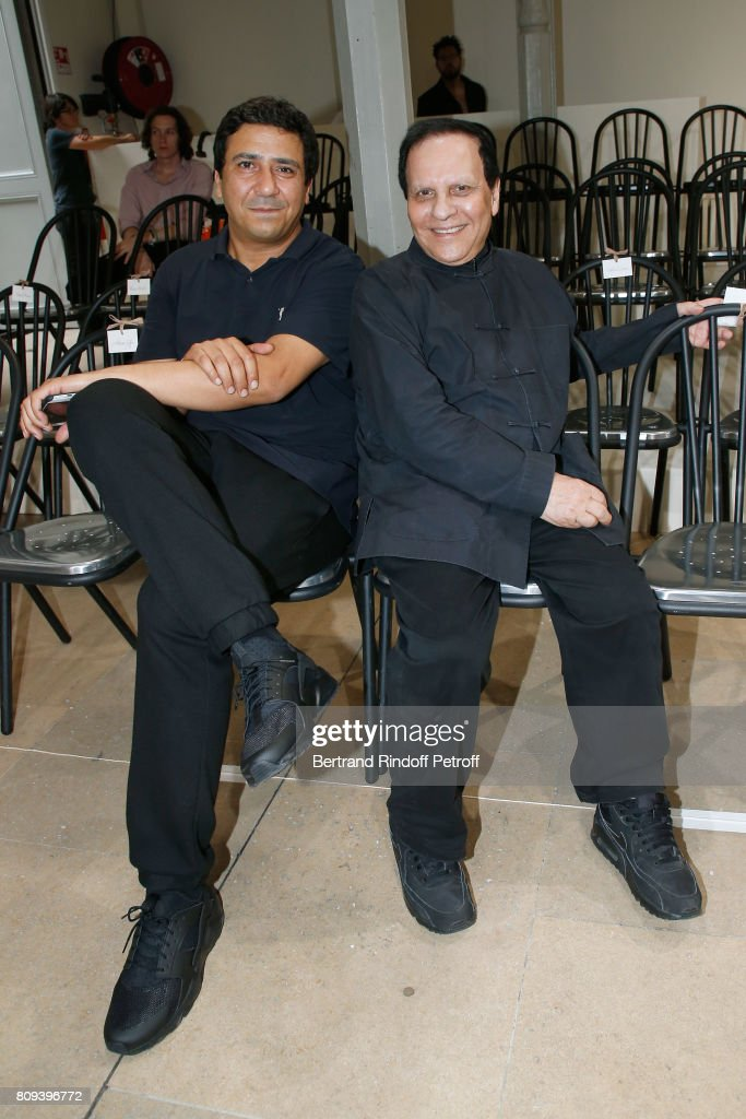 Montasara Alaya and Azzedine Alaia attend the Azzedine Alaia Fashion Show as part of Haute Couture Paris Fashion Week. Held at Azzedine Alaia Gallery on July 5, 2017 in Paris, France.