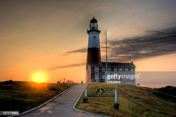 montauk sunrise (ny) - long island stock pictures, royalty-free photos & images