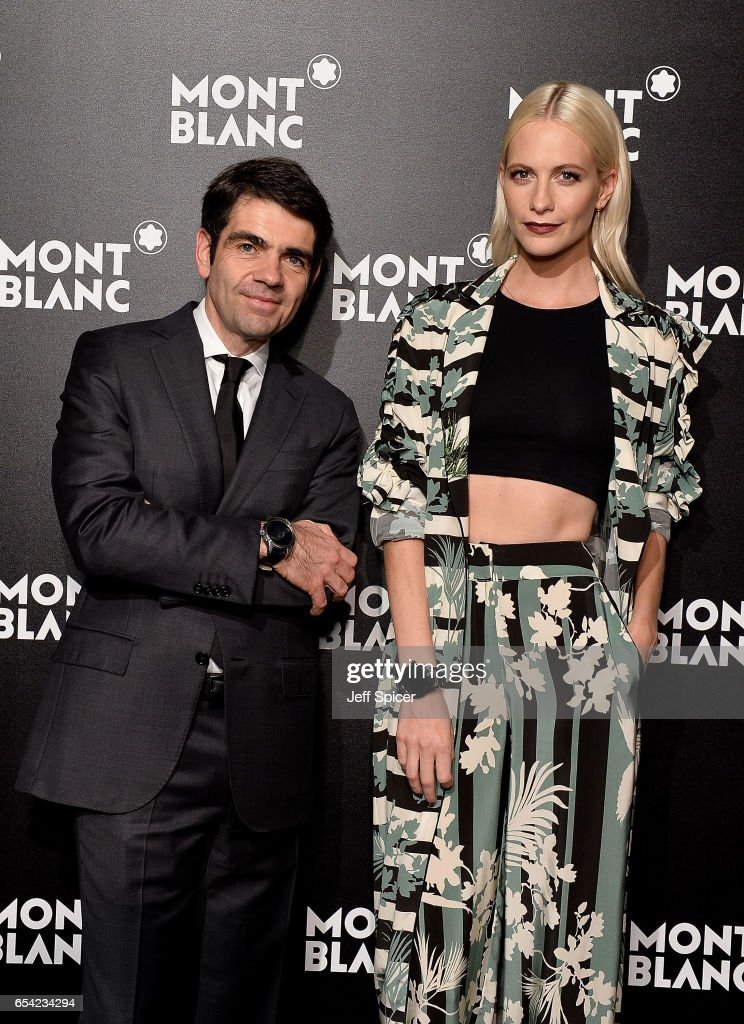 Montblanc CEO Jerome Lambert and Poppy Delevingne attend the Montblanc Summit launch event at The Ledenhall Building on March 16, 2017 in London, England.