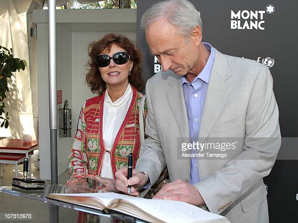 Montblanc Intl Lutz Bethge and Susan Sarandon attend the Montblanc's Global Signature for Good Initiative Raises $4050 USD to Support UNICEF's...
