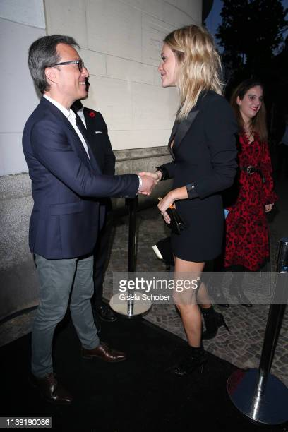 """Montblanc Nicolas Baretzki and Poppy Delevingne attend the """"To Berlin and Beyond with Montblanc: Reconnect To The World"""" launch event at Metropol..."""
