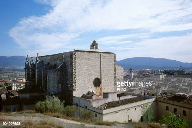 Montblanc province of Tarragona region of Conca de Barbera Catalonia Spain Church of St Mary Gothic temple built between 1352 and 1528 General view