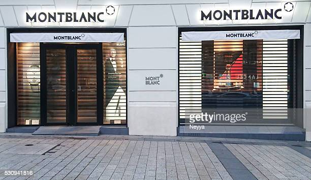 montblanc store - montblanc designer label stock pictures, royalty-free photos & images