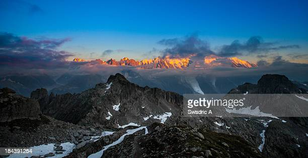 Mont-Blanc sunset