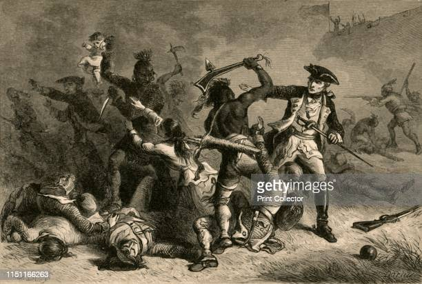 Montcalm Trying To Stop The Massacre' French soldier LouisJoseph de MontcalmGrozon marquis de Montcalm de SaintVeran was commander of the forces in...