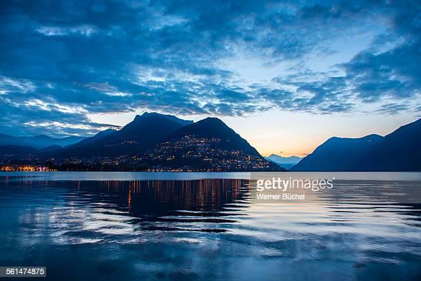 Monte Bre in Lugano at Dawn - Sunrise