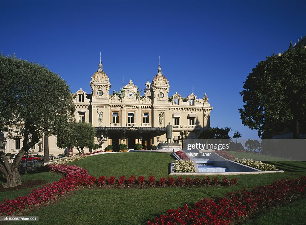 Monte Carlo Casino gardens : Foto stock