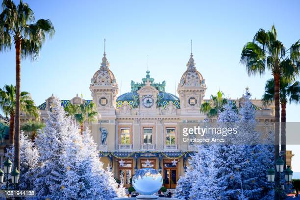 monte carlo casino in winter - monte carlo stock pictures, royalty-free photos & images