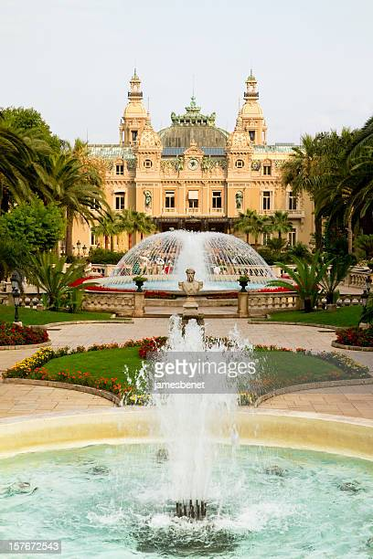 monte carlo casino with fountains - monte carlo stock pictures, royalty-free photos & images