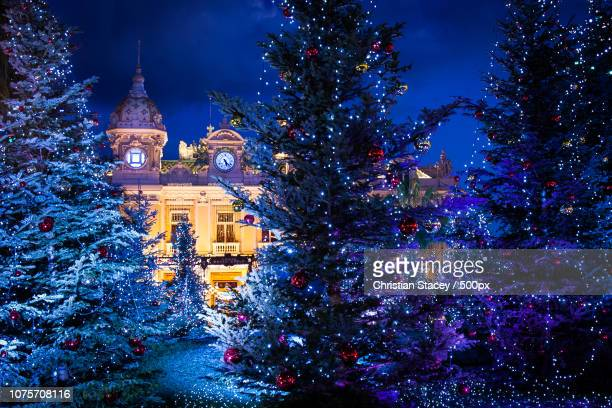 monte carlo christmas - monte carlo stock pictures, royalty-free photos & images