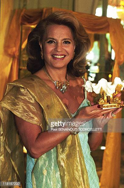 Monte Carlo Hotel Hermitage Ira de Furstenberg presents her creations in Monaco on August 06 1997