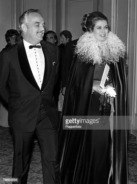 Monte Carlo Monaco 20th February 1971 Prince Rainier and Princess Grace of Monaco attending a Monte Carlo film festival