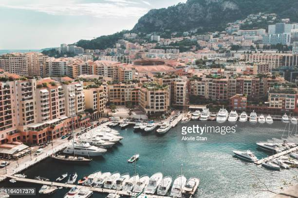 monte carlo panorama - monte carlo stock pictures, royalty-free photos & images