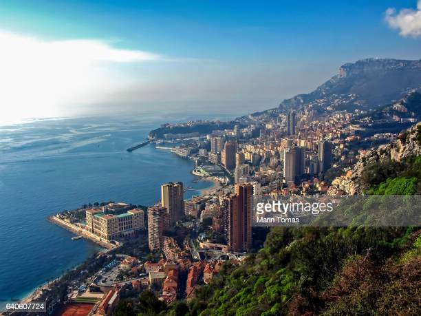 monte carlo panorama - monaco stock pictures, royalty-free photos & images