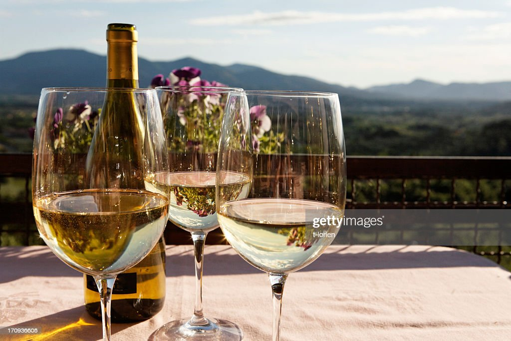 Monte Carlo White Wine : Stock Photo