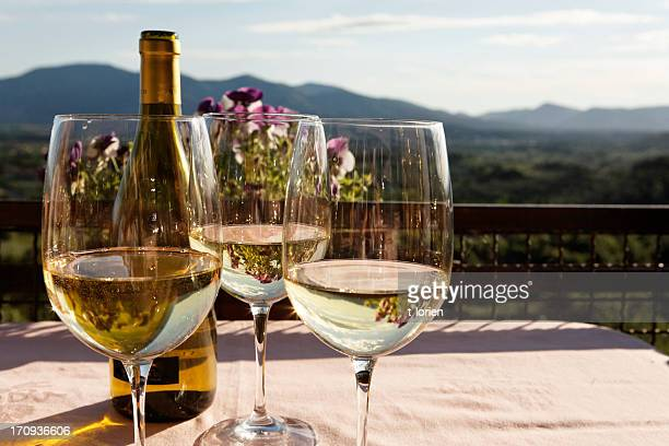 monte carlo white wine - chardonnay grape stock photos and pictures
