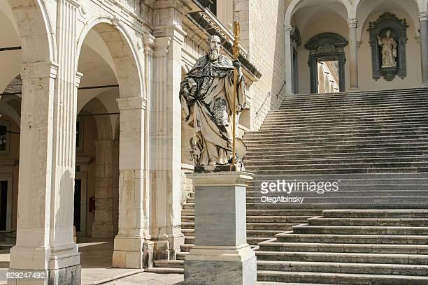 abbazia di montecassino, italia. - abbazia foto e immagini stock