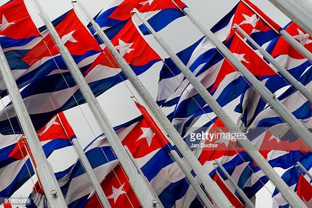 monte de las banderas - bandera cubana fotografías e imágenes de stock