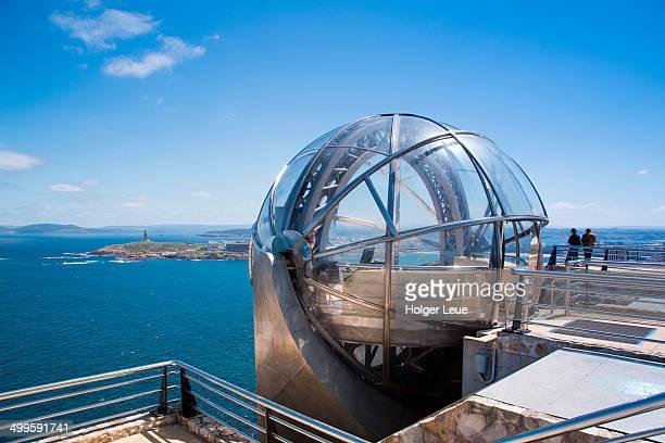 monte de san pedro panoramic elevator - a coruña stock pictures, royalty-free photos & images