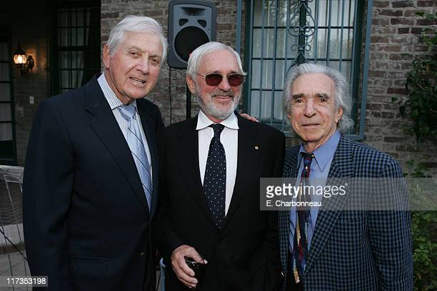 Monte Hall, Norman Jewison and Arthur Hiller during Norman Jewison Book Signing Hosted by Alain Dudoit, Consul General of Canada at Canadian...