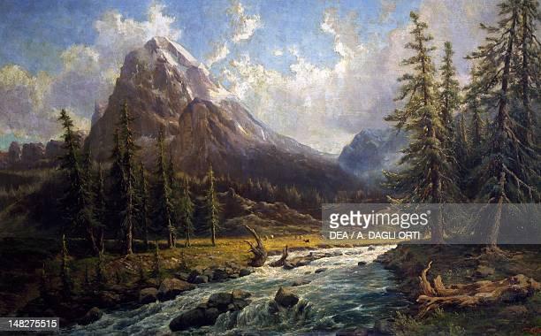 Monte Leone 18961897 by Federico Ashton oil on canvas 108x181 cm Novara Broletto Galleria D'Arte Moderna Paolo E Adele Giannoni