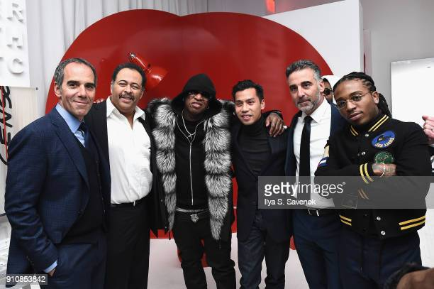 Monte Lipman a guest Birdman Nathan Tan Avery Lipman and Jacquees attend Republic Records Celebrates the GRAMMY Awards in Partnership with Cadillac...