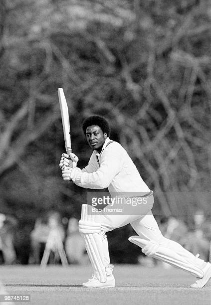 Monte Lynch of Surrey batting for Lavinia Duchess of Norfolk's XI against India during a cricket match held at Arundel Castle Cricket Ground Arundel...