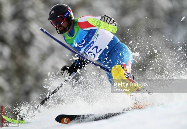 Monte Meier of USA competes in the Men's Standing Slalom during Day 4 of the 2010 Vancouver Winter Paralympics at Whistler Creekside on March 15 2010...