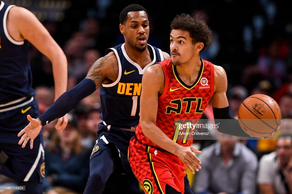 DENVER NUGGETS VS ATLANTA HAWKS, NBA : News Photo