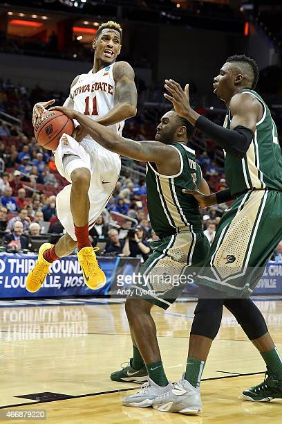 Monte Morris of the Iowa State Cyclones goes to the hoop against the UAB Blazers during the second round of the 2015 NCAA Men's Basketball...
