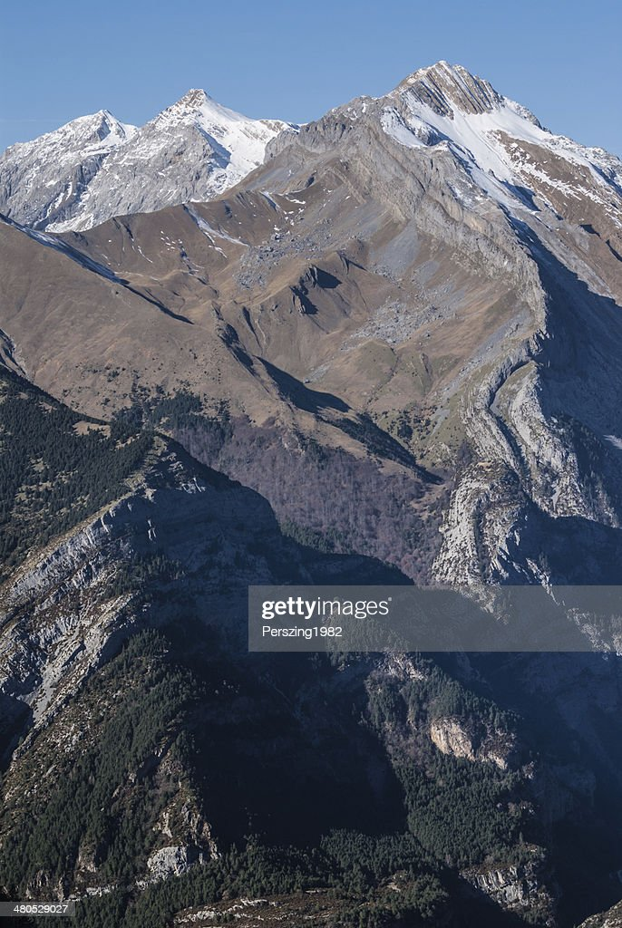 Monte Perdido in Ordesa National Park, Huesca. Spain. : Stockfoto