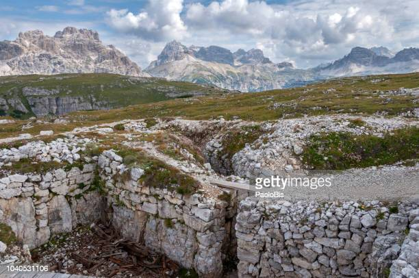 Monte Piana, trenches of The Great War