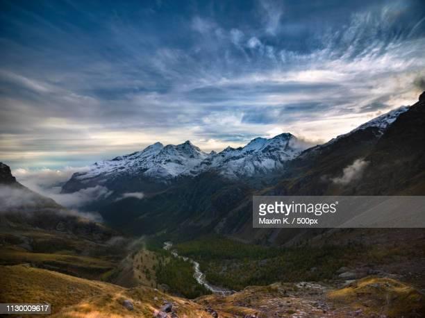 monte rosa aosta valley italy - monte rosa foto e immagini stock