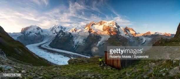 monte rosa glacier, switzerland - zermatt stock pictures, royalty-free photos & images