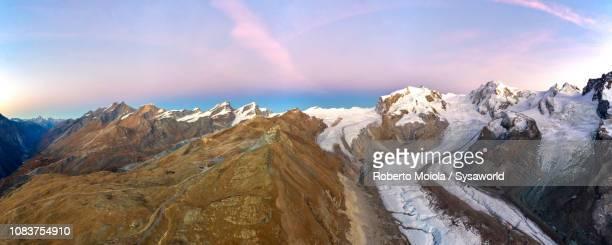 monte rosa glacier, zermatt, switzerland - monte rosa foto e immagini stock