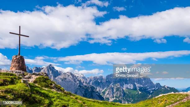 monte santo di lussari - holy mountain of lussari (friuli-venezia giulia, italy) - june stock pictures, royalty-free photos & images