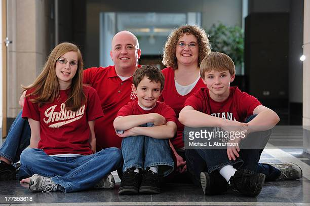 Monte Searle, student at Indiana University's Kelley School of Business, with family, February 28, 2009.