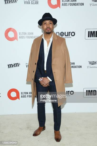 Monte Simmons attends the 28th Annual Elton John AIDS Foundation Academy Awards Viewing Party Sponsored By IMDb, Neuro Drinks And Walmart on February...