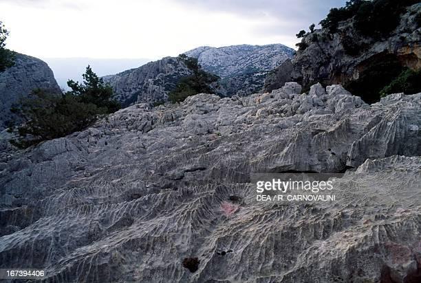 Monte Tiscali National Park of the Bay of Orosei and Gennargentu Sardinia Italy